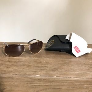 Women's Ray Ban sunglasses, gold & brown